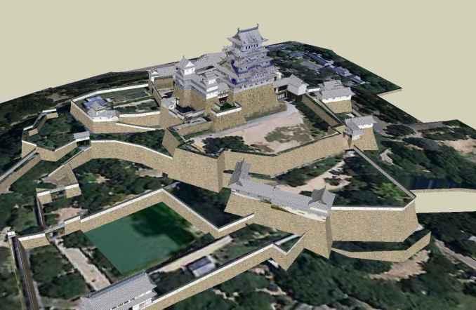 Hime Castle Sketchup 3D model
