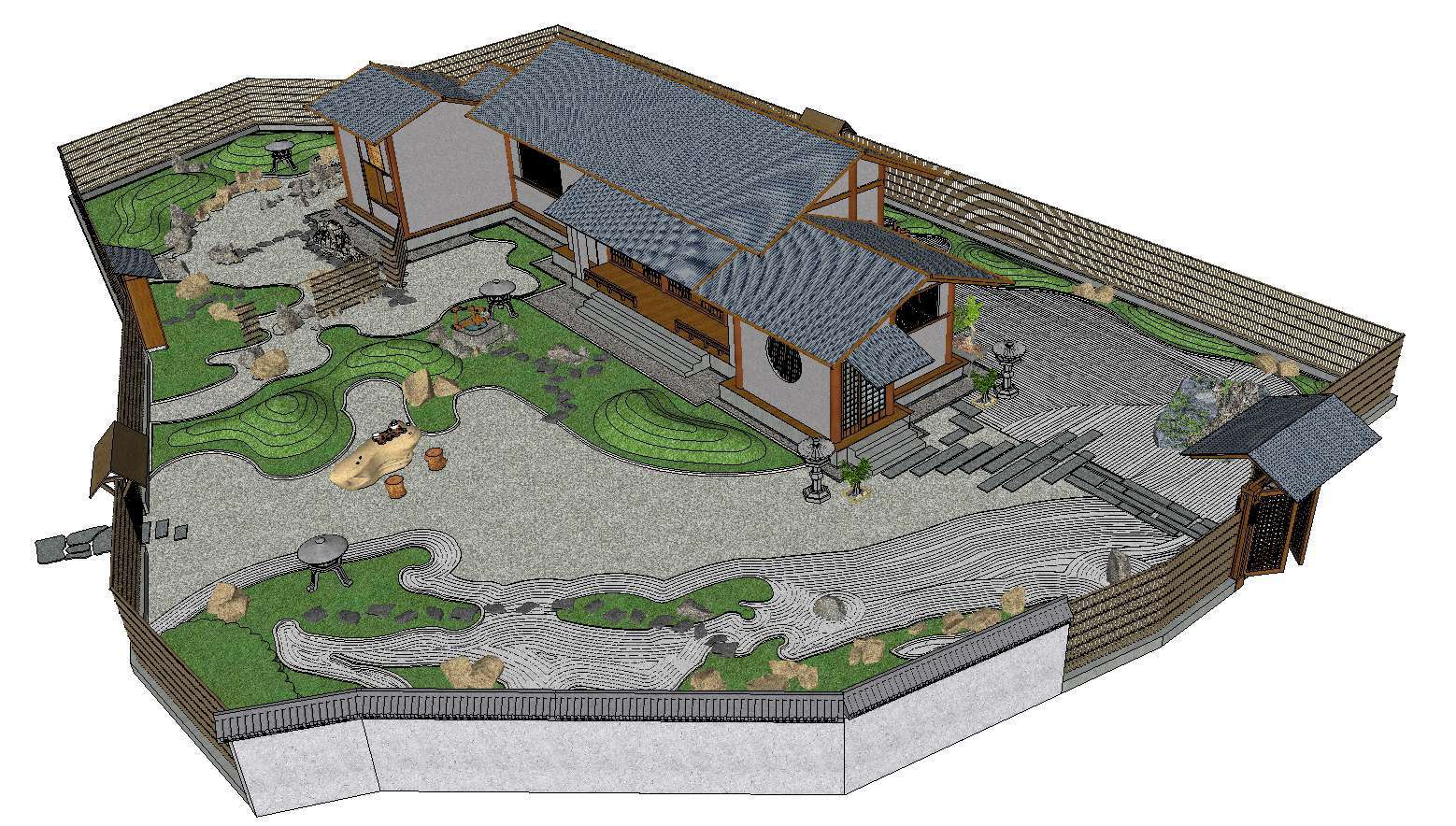 Sketchup Architecture 3D Projects】9 Types of Japanese ...