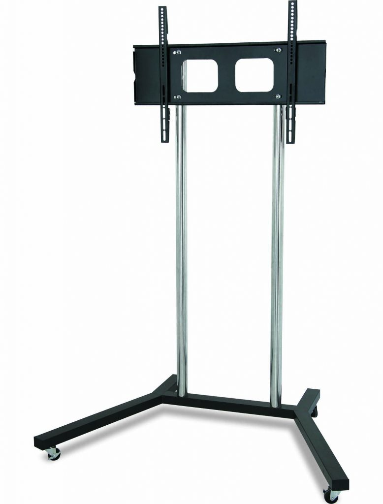 FS401 TV trolley stand with 2 large chrome poles
