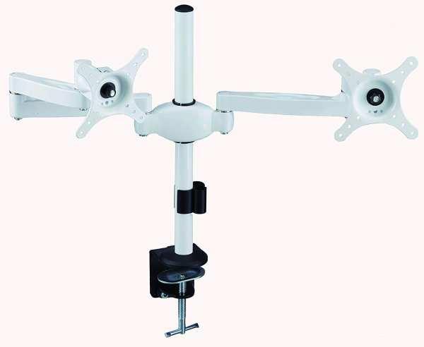 AVM05 for 2x LCD 6kg Tilt, Swivel, Rotate, White