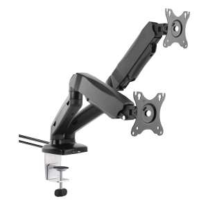 AVU32D gas spring Double LCD monitor arm stand twin dual