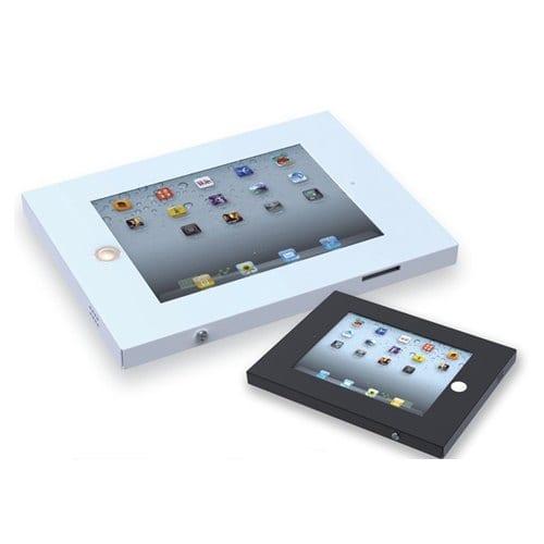 Allcam Anti-theft secure iPad holder enclosure case wall mount vesa white black