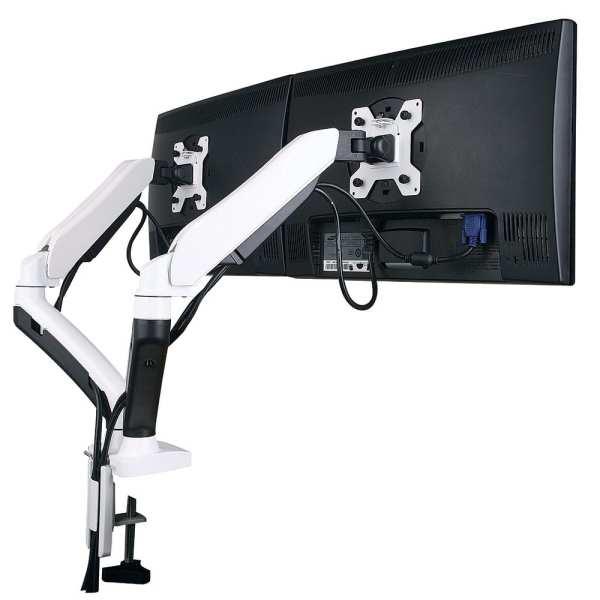 AVA22DD w/ Desk Clamp for 2x LCD 1.5-7kg, Tilt, Swivel, Rotate