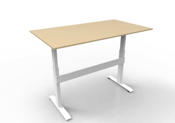gdf02mw gas spring height adjustable standing desk w/ beige top