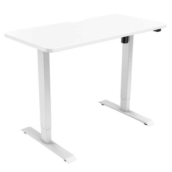 edf21s electric standing desk height adjustable white