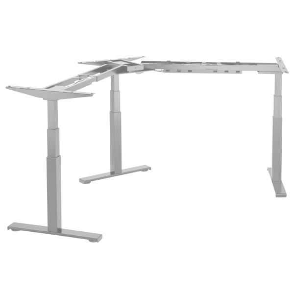 EDF03TS Triple motor sit stand desk height adjustable frame silver