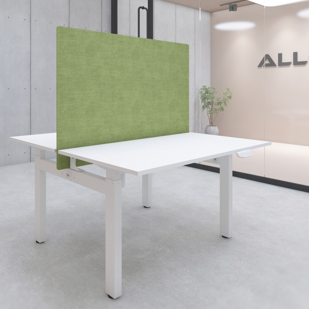 s149gr desk privacy screen with mounting kit 1400x900 green