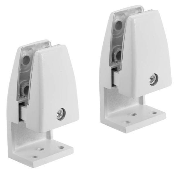 sem02 edge mount brackets for desk top privacy screens dividers
