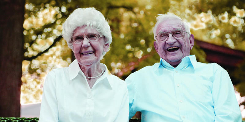 image of senior couple happy together