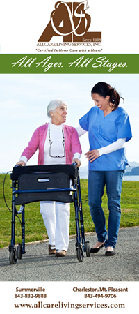 image of the front of AllCare Living Services brochure