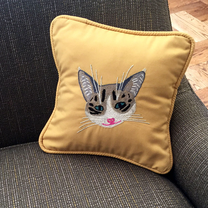 "All Cats Connected ""Nell"" Pillow"