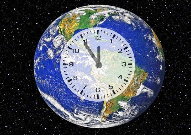 New York Clock Counting Time for Climate Disaster