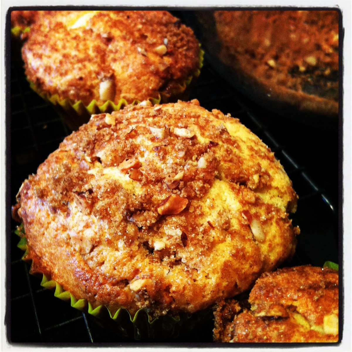 sour cream streusel cup cakes