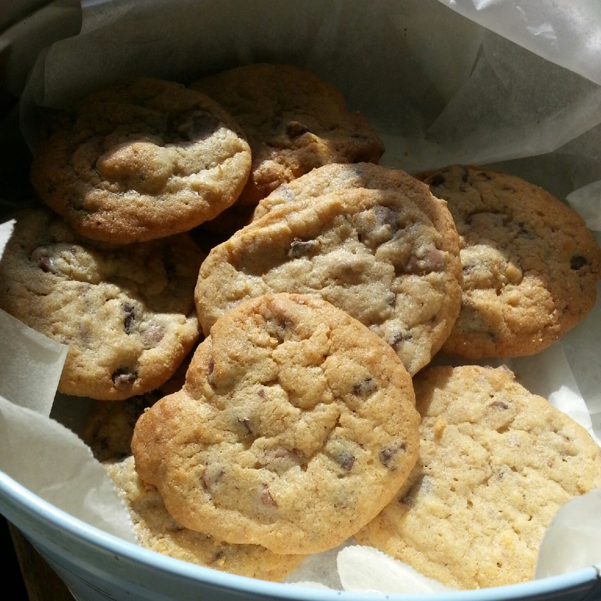 Choc chip biscuits