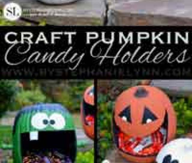 Craft Pumpkin Halloween Candy Holders