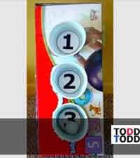 DIY Toddler Skeeball Game