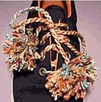 Rainbow Shoelaces with Pom-poms