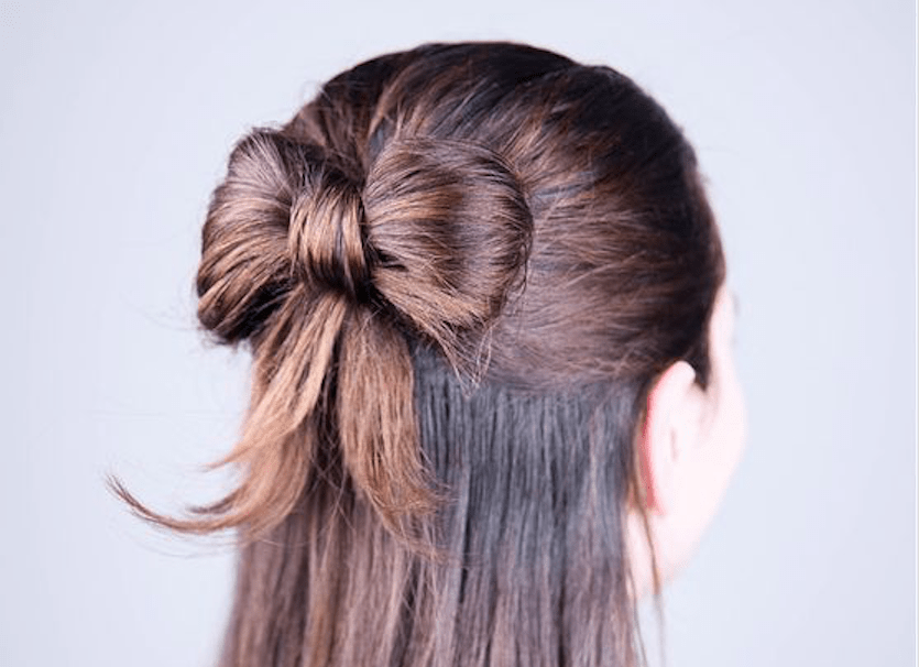 How To Make A Hair Bow Out Of Your Own Hair All Created