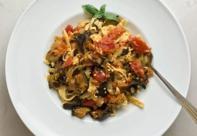 Fresh Fettuccine with Roasted Eggplant and Tomato