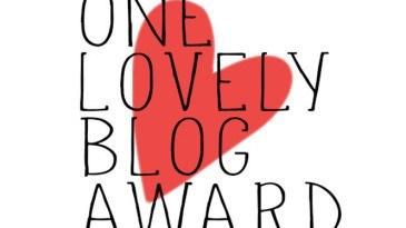 One Lovely Blog Award December 2016