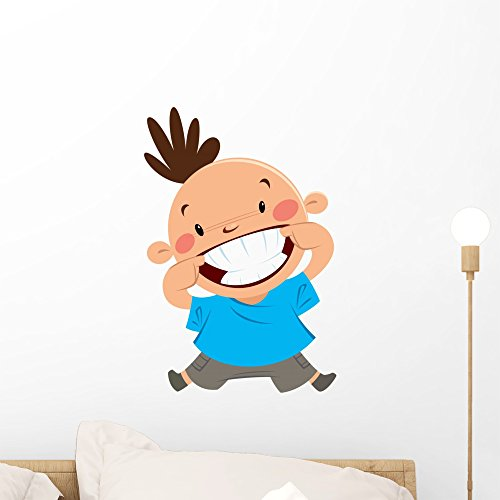 Wallmonkeys Happy Boy Smiling Pointing His Smile and Teeth Wall Decal Peel and Stick Graphic WM122022  sc 1 st  Dental Products : wallmonkeys wall decals - www.pureclipart.com