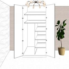 2 Door Hinged Cupboard Layout