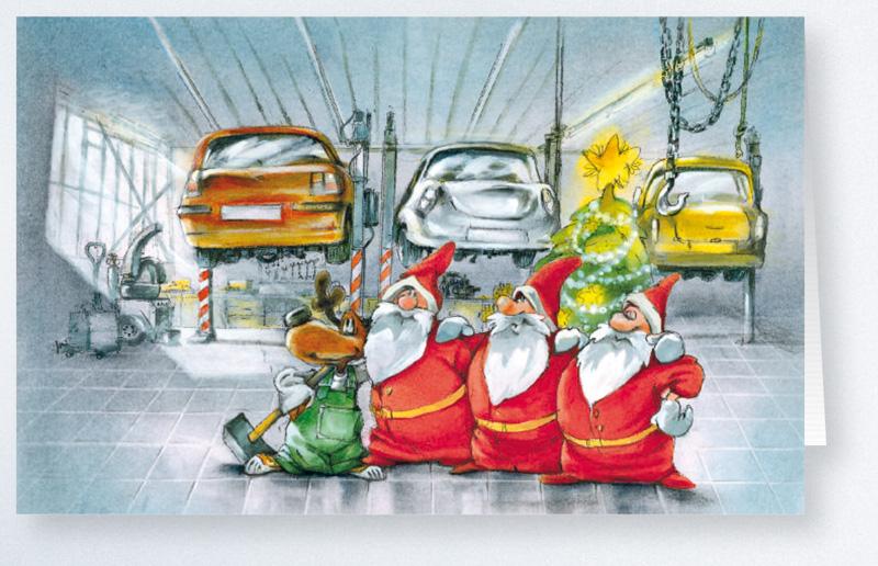 100 Weihnachtskarten Fr Branche Autoreparatur KFZ