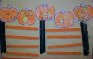 Student work pumpkins