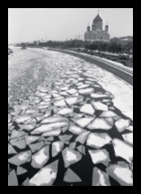The ice breaks on the Moscow River, with the newly-rebuilt Cathedral of Christ the Savior in the background. Vladimir Filonov, photographer. Copyprint, original taken in March 1998. Prints and Photographs Division, Library of Congress (24)