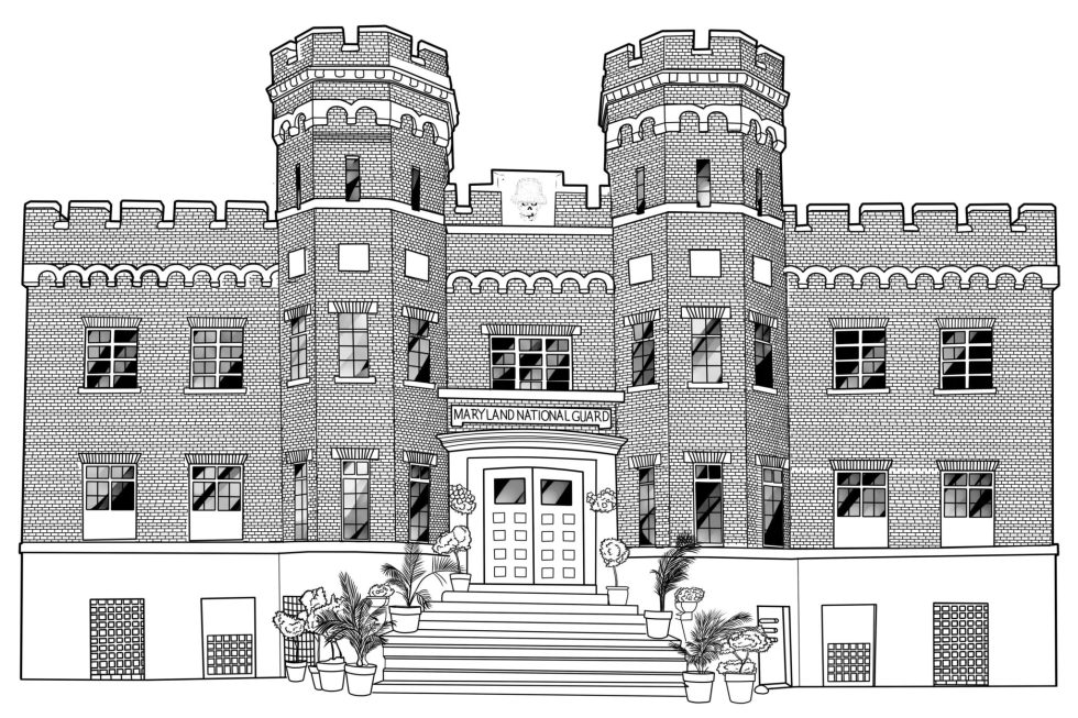 windsor castle aaa line art