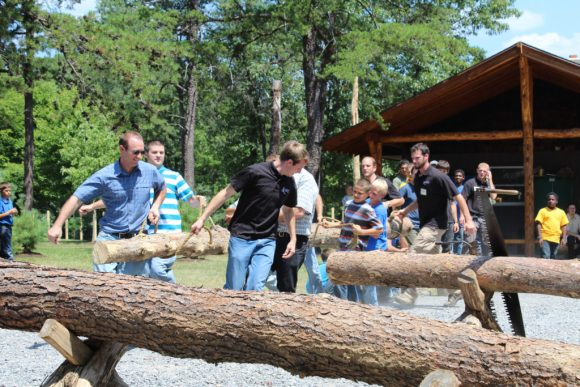 Allegany Boys Camp open house log carry