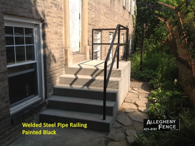 Pittsburgh Residential Railings And Columns Allegheny Fence | Black Pipe Stair Railing | Industrial Farmhouse | Iron Pipe | Banister | Diy | Wrought Iron
