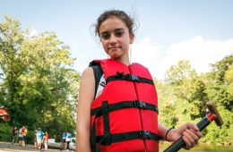Paddlers for Peace, a youth dragon boat league in Pittsburgh, introduces kids to the sport, but also teaches values of peace, nonviolence and respect for nature. Photo: Lou Blouin