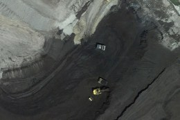 An aerial view of Wyoming's Eagle Butte Mine, owned by bankrupt Alpha Natural Resources. Regulators estimate it would cost over $400 million to restore the land that Alpha has mined in Wyoming. Photo: Google Earth