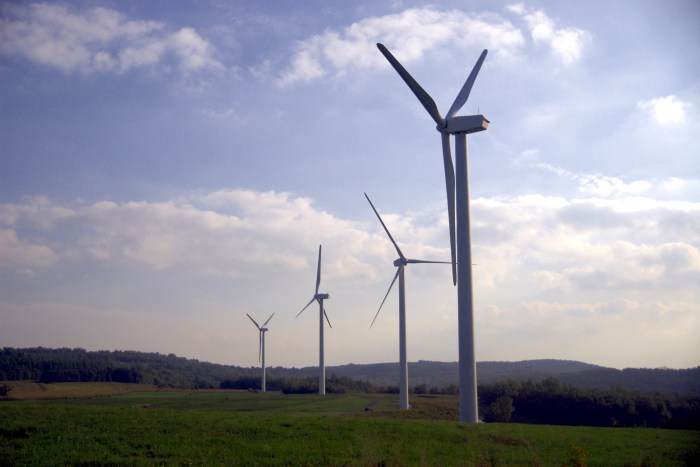 Wind turbines in Somerset County, PA.