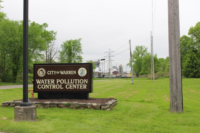 Warren's sewage treatment plant discharges to the Mahoning River. Photo: Julie Grant