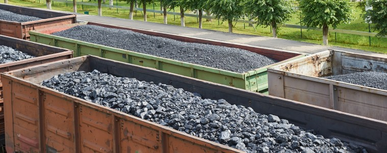 Coal freight trains