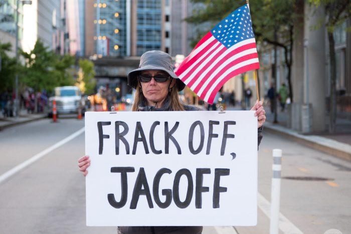 anti-fracking voter in Pennsylvania