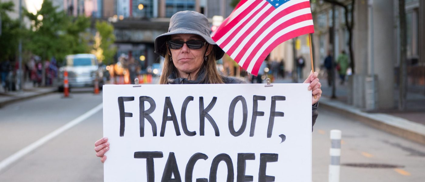anti-fracking voter in Pennsylvania