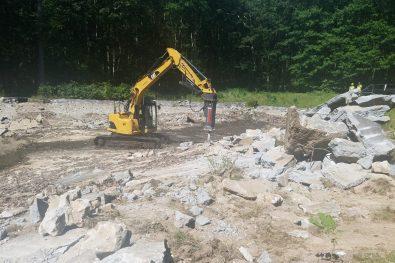 Demolition of pool