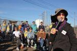Rabbi Julie Greenberg at a rally