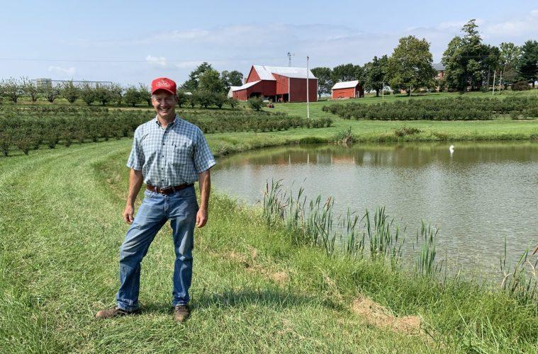 Barron Shaw on his farm