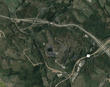 The proposed site of the Beech Hollow power plan