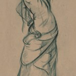 5 minute charcoal study from figure drawing class.