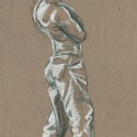 Short minute nu-pastel study from figure drawing class.