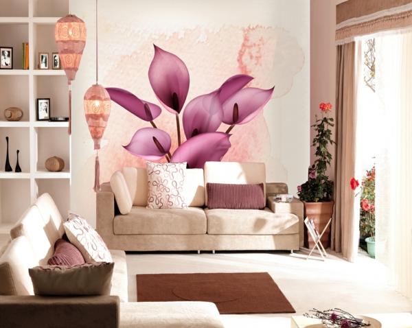 Tapetenmuster Mit Blumenmotiven Sch 246 Ne Wandgestaltung Ideen