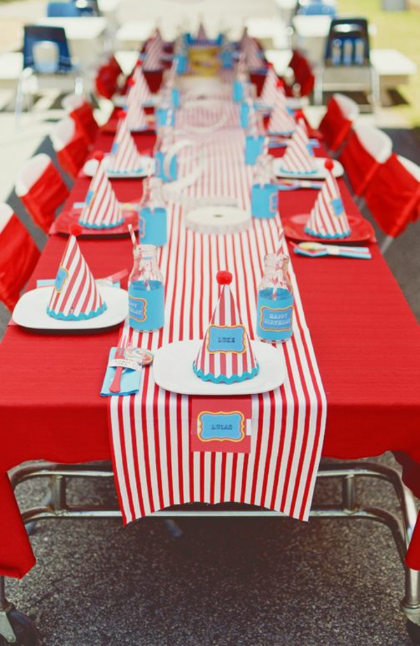 Circus Themed Birthday Party Decorations Rumahblog Wallpaper