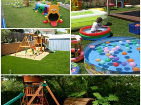 gartenideen kinder outdoor spielplatz im garten für amüsante kinderspiele