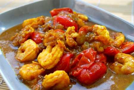 Indisches Garnelen-Kokos-Curry