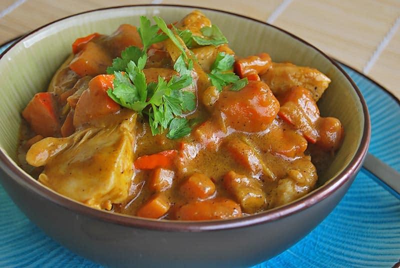 indisches Kürbis-Hühner-Curry